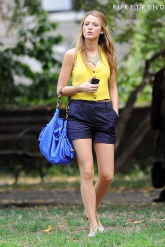 bag blue gossip girl serena van der woodsen