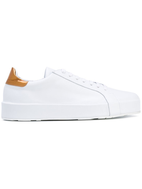 Jil Sander heel women sneakers leather white shoes