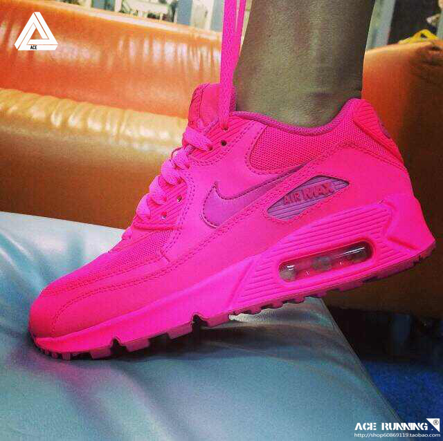 Nike air max 90 gs hyper pink running trainers [babylissprocurlsale005]