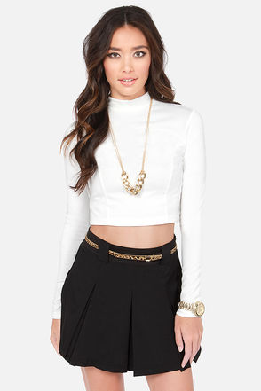 Cute Ivory Top - Crop Top - Turtleneck Top - $31.00