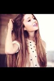 blouse,ariana grande,hair accessory,shirt