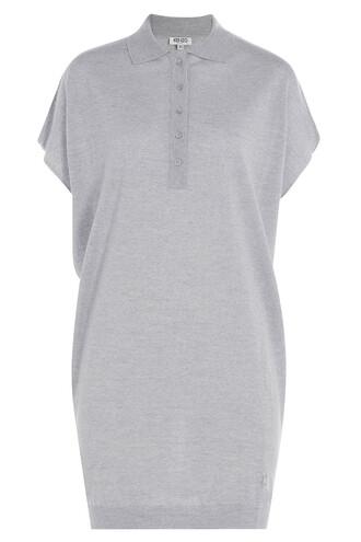 top tunic draped wool grey