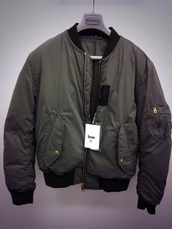 coat,acne studios,bomber jacket,jacket,dark green,khaki,style
