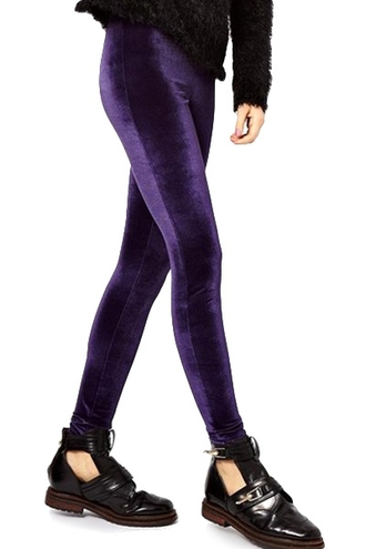 leggings zaful velvet velvet leggings pants velvet pants grunge hipster goth goth hipster winter outfits fall outfits autumn/winter purple high waisted jeans alternative warm leg warmers