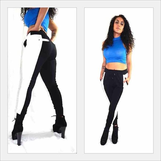 Jeans joggers sweatpants jogger outfit black bandana print joggers jordanu0026#39;s hu0026m hm ...