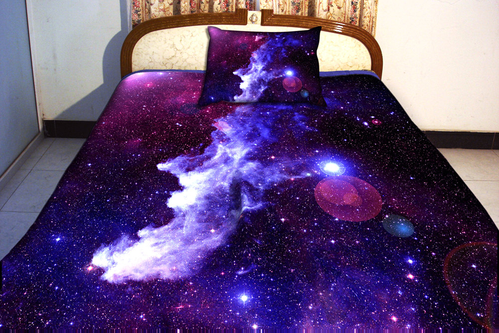 galaxy bettw sche set zwei seiten drucken galaxis twin. Black Bedroom Furniture Sets. Home Design Ideas