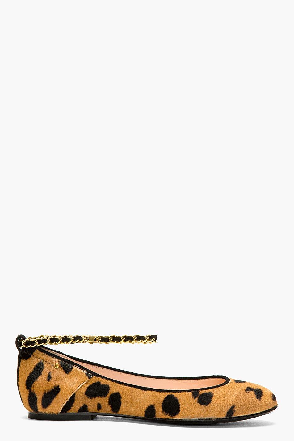 Jrme dreyfuss brown leopard print calf hair aurelie ballerina flat