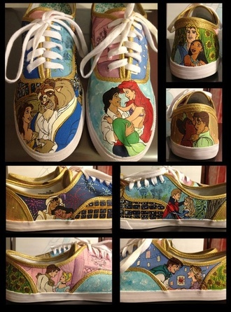 shoes princess and the frog tangled disney beauty and the beast cinderella the little mermaid sleeping beauty aladdin pocahontas vans keds