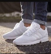 shoes,adidas flux,all white everything,zx flux,nike,adidas,adidas 3 stripes