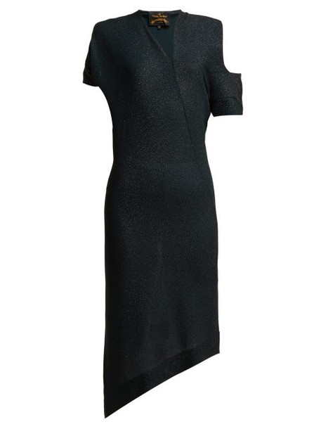 Vivienne Westwood Anglomania - Timans Asymmetric Midi Dress - Womens - Black