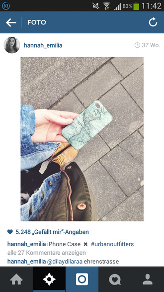 urban outfitters phone case phone case iphone case map print