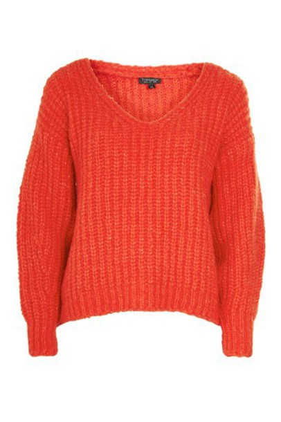Topshop jumper oversized red sweater