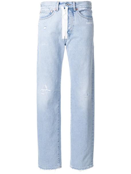Off-White jeans women cotton blue