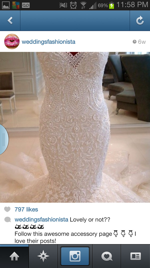 dress mermaid wedding dress lace wedding dress