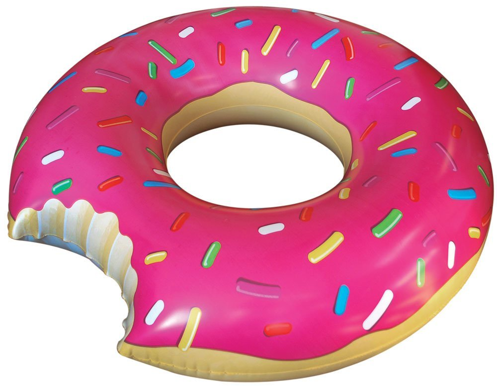 Amazon.com: big mouth toys gigantic donut pool float: toys & games