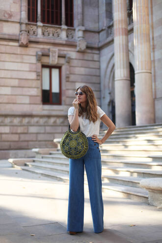 my daily style blogger pants bag sunglasses