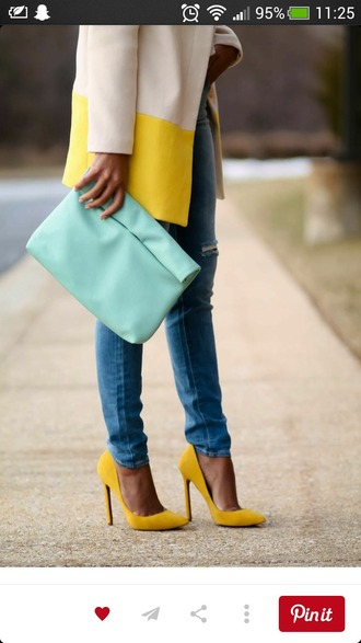 shoes yellow shoes suede shoes pumps high heels yellow heels