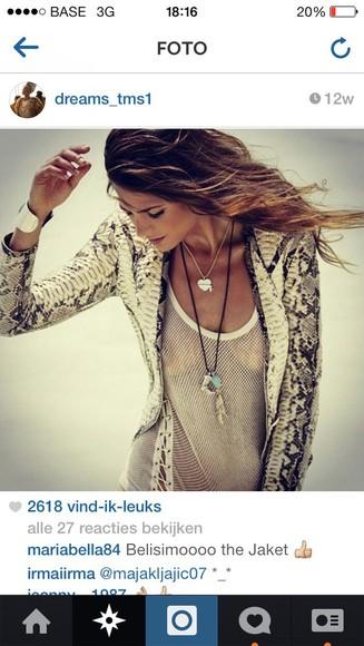 snake style jacket snakeprint girl beautifull
