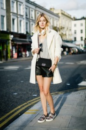 camille over the rainbow,coat,shorts,t-shirt,sunglasses,jewels,bag