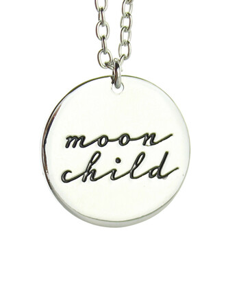 jewels moon god moon falls in love has a baby moon child necklace forever perfect moonchild witches beauty moon silver necklace simple dress perfect