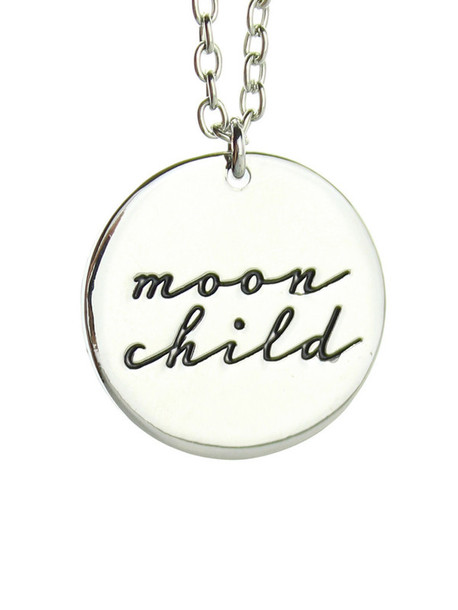 jewels moon god moon falls in love has a baby moon child necklace forever perfect moonchild witch beautiful moon silver necklace simple dress perfect moon necklace