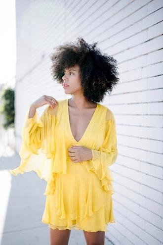 romper tumblr yellow long sleeve romper long sleeves v neck hairstyles curly hair
