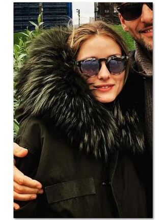 jacket fur fur jacket olivia palermo