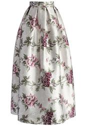 skirt,chicwish,my secret garden floral maxi skirt,floral maxi skirt,maxi skirr,maxi skirt,printed skirt,chicwish.com,floral midi skirt,floral printed skirt