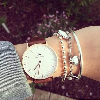 jewels watch women watches vintage vintage watch leather bracelets silver silver bracelet