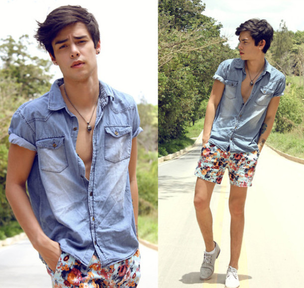 Shorts: menswear, menswear, floral, flowered shorts, mens floral ...