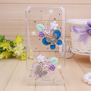Amazon.com: 3d Clear Crystal Bling Case Cover with Rhinestone Butterflies with Flowers for Iphone 4 4s/5 5s/5c, Galaxy S3/ S4 9500 (5 5s, butterflies): Electronics