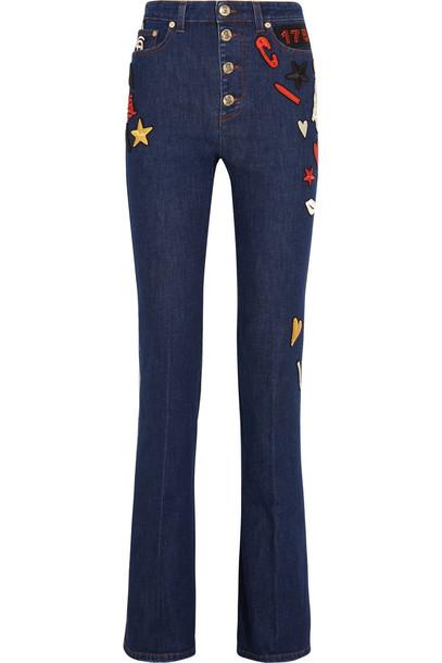 Sonia Rykiel jeans embroidered high denim dark