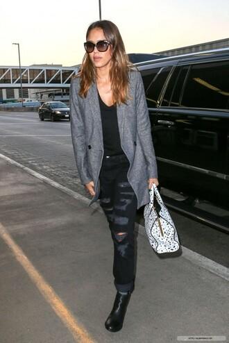 jeans jacket jessica alba fall outfits