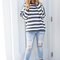 Call it destiny navy striped knit sweater