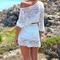 Off the shoulder crochet lace dress|disheefashion