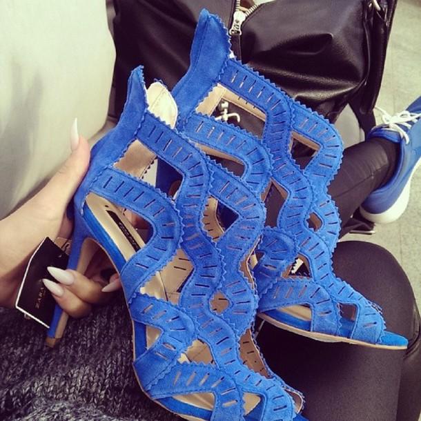 shoes blue high heels high heels heels sandals