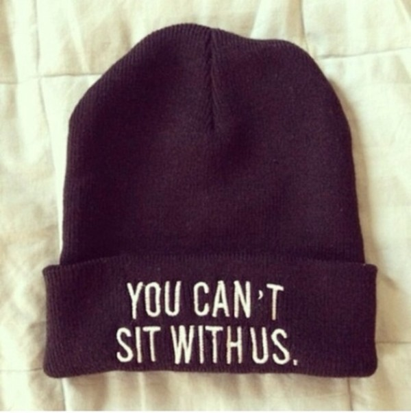hat you cant sit with us black