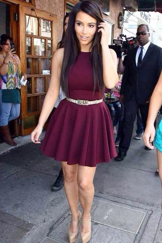 dress burgundy dress burgundy beautiful short flirty comfy short party dresses red dress cute dress summer dress kim kardashian