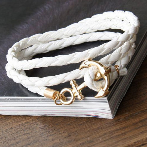 [grxjy51201216]Vintage Style Anchor Handmade Braided Rope Bracelet