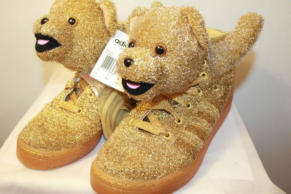 adidas jeremy scott teddy bear gold