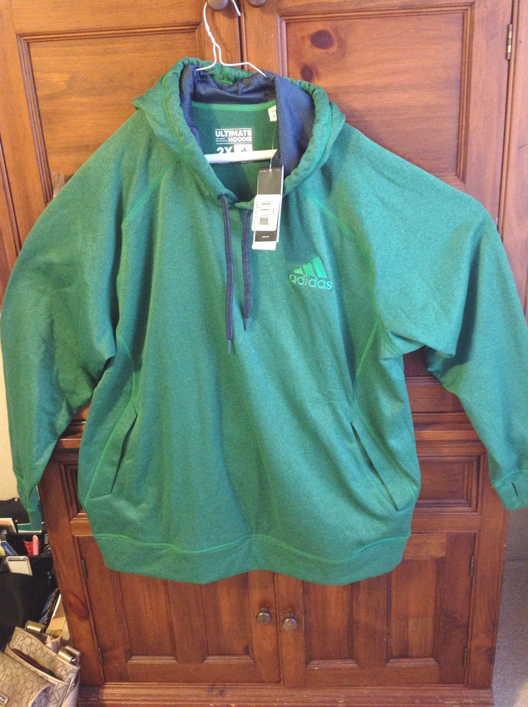 Adidas performance hoodie, climawarm, green, size 2xl new