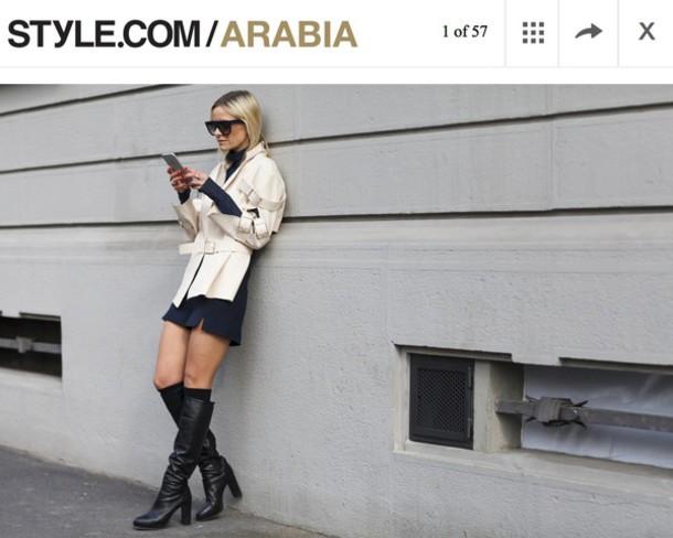 hippie hippie milkshake blogger shorts black boots trench coat