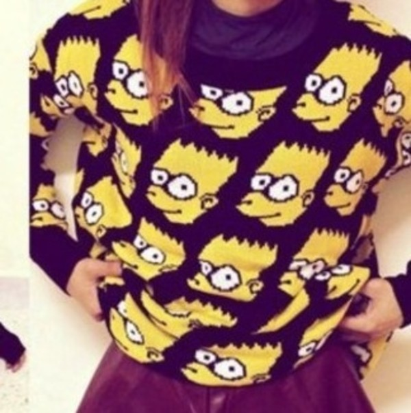 sweater bart simpson the simpsons