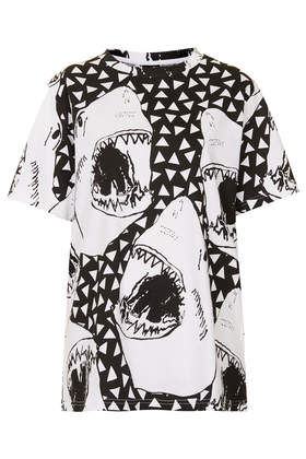 **Shark Polka Tee by Illustrated People - Topshop