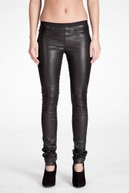 Helmut Lang Black Leather Pants for women | SSENSE