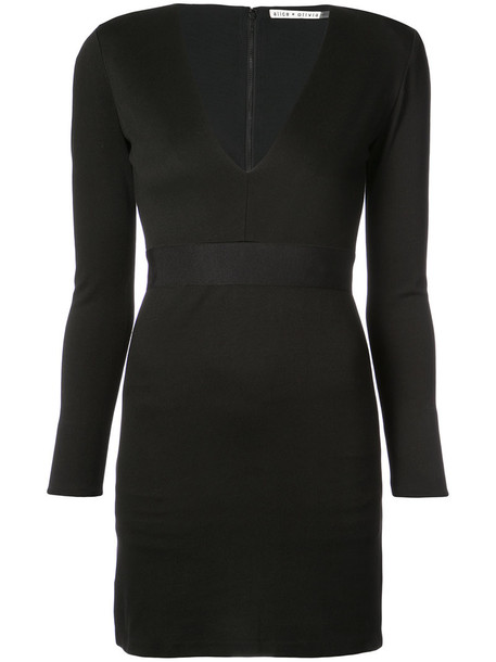 Alice+Olivia dress mini dress mini women spandex black
