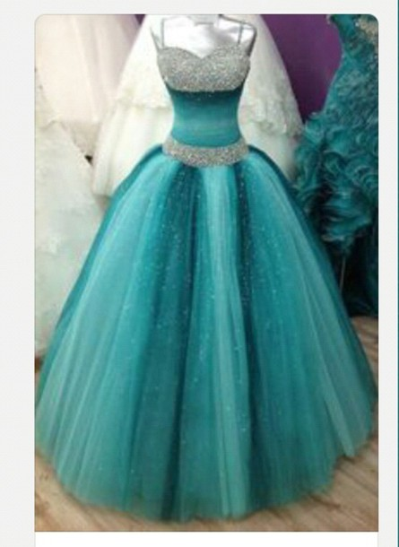 dress prom dress blue ball gown dress sparkle sparkle