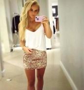 skirt,sequin skirt,sparkle,sequins,mini skirt,pencil skirt,new year's eve,holidays,classy,blouse