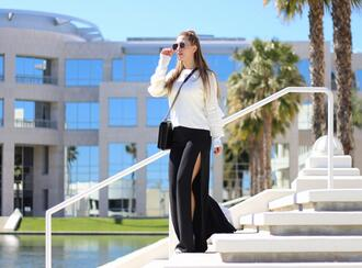 thefashionstatement blogger sweater pants shoes bag sunglasses