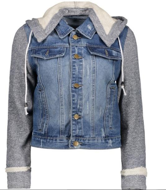 jacket denim denim jacket grey grey sweater hoodie